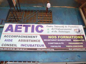 plaque publicitaire de AETIC