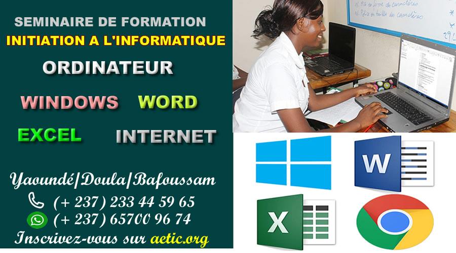 Séminaire formation en informatique initiation bureautique internet