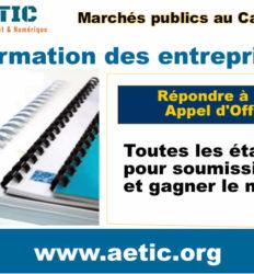 Soumissionner et gagner les marchés publics – Formation des entreprises
