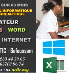 Formation bureautique, secrétariat bureautique, Word, Excel, Internet