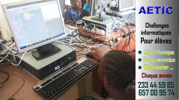 Challenges informatiques pour élève au Cameroun, Yaoundé, Douala, Bafoussam