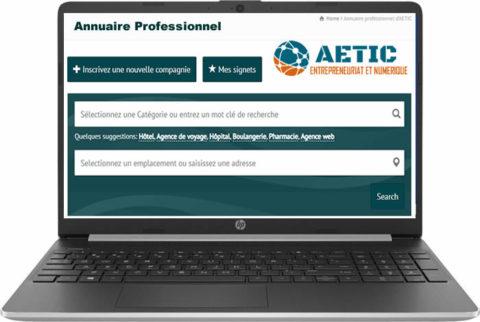 Annuaire professionnel des entreprise AETIC
