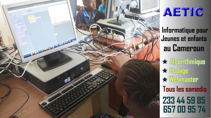 Informatique pour jeunes au Cameroun